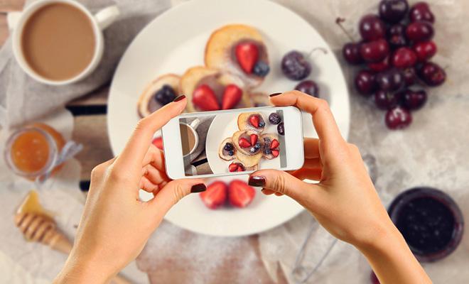 yemek ve sosyal medya ile ilgili görsel sonucu