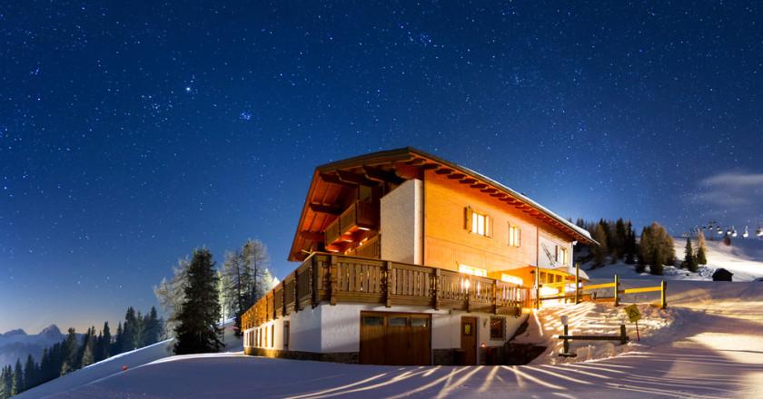 Alplerde Dağ Evi