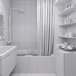 Banyo Dekorasyonu Beyaz Banyo