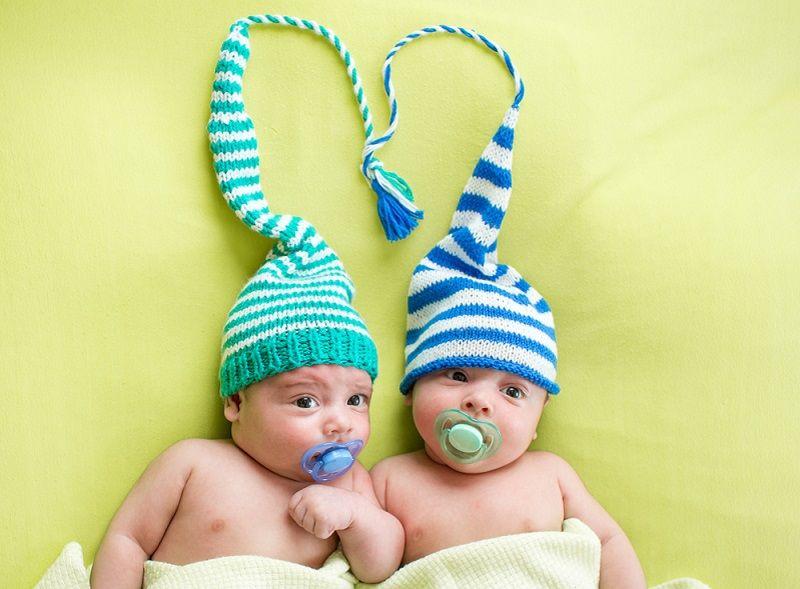 Bebek Örgü Modelleri İkiz Bere
