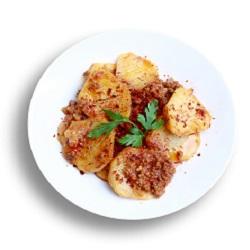 Kıymalı Yemekler Patates Oturtma