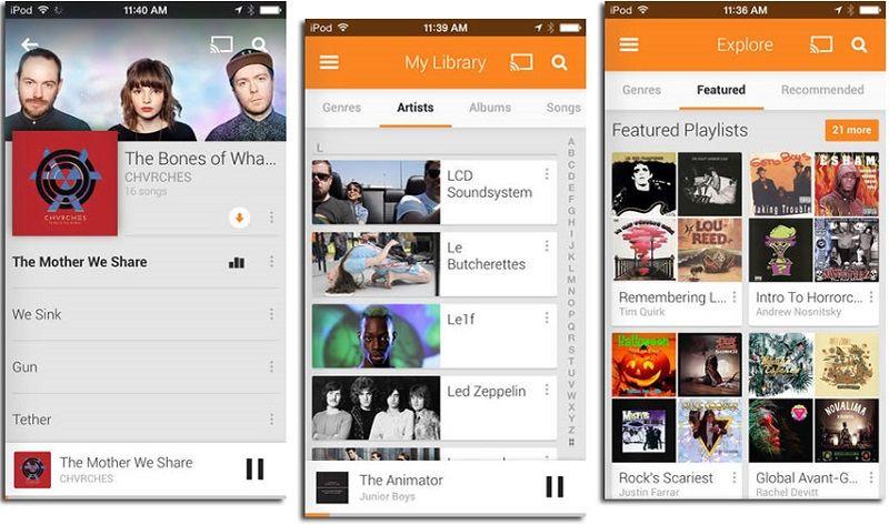 Müzik Uygulamaları Google Play Music