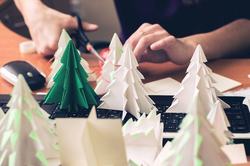 Origami Yapımı Ağaç