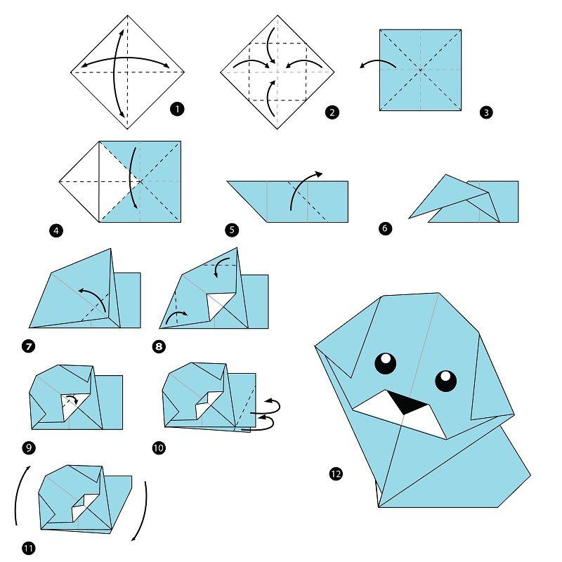 Origami Yapımı Köpek