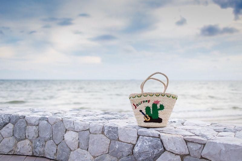 Plaj Çantası Pullu