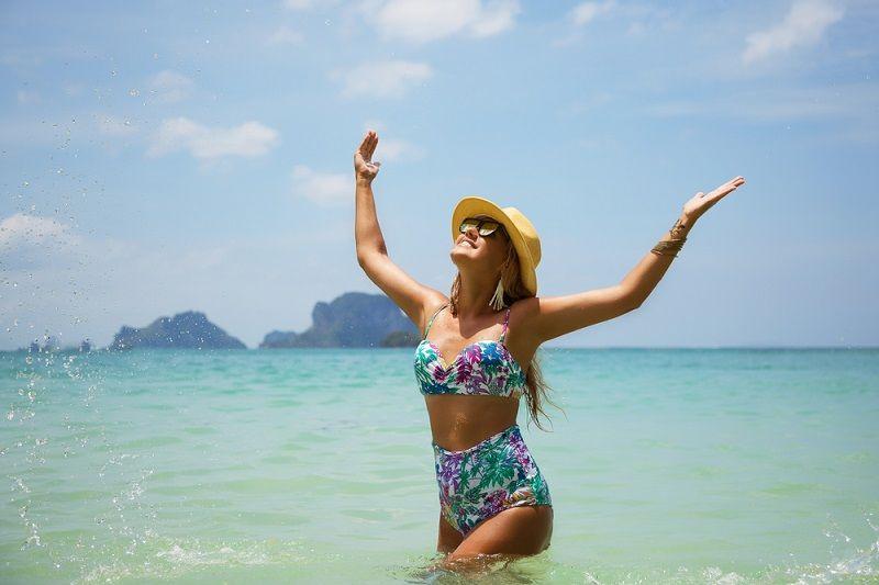 Plaj Yüksek Bel Bikini