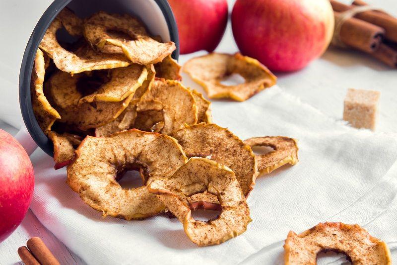 Sağlıklı Atıştırmalıklar Elma Cips