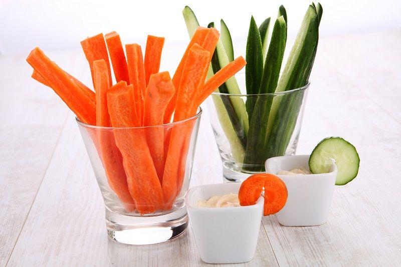 Sağlıklı Atıştırmalıklar Sebze