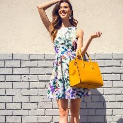 Yazlık Elbise Modelleri Çiçekli Elbise