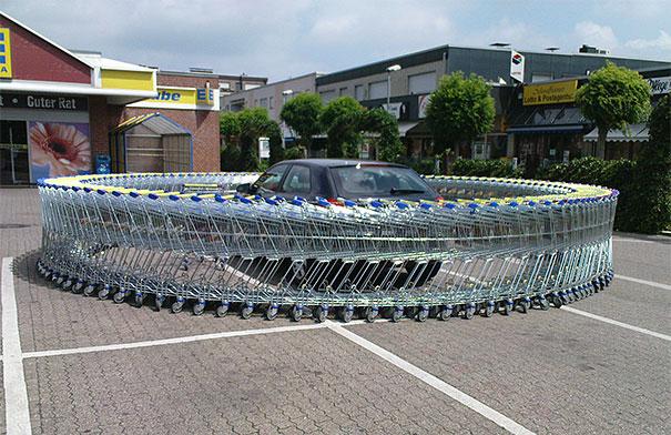 1 Nisan Şakası Alışveriş Arabası