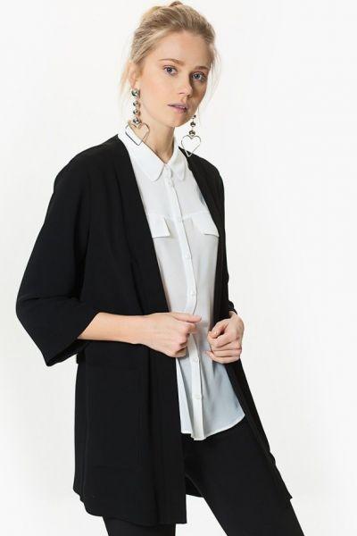 Siyah Beyaz Kombin - Ceket