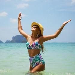 Bikini Modelleri Yüksek Bel Bikini