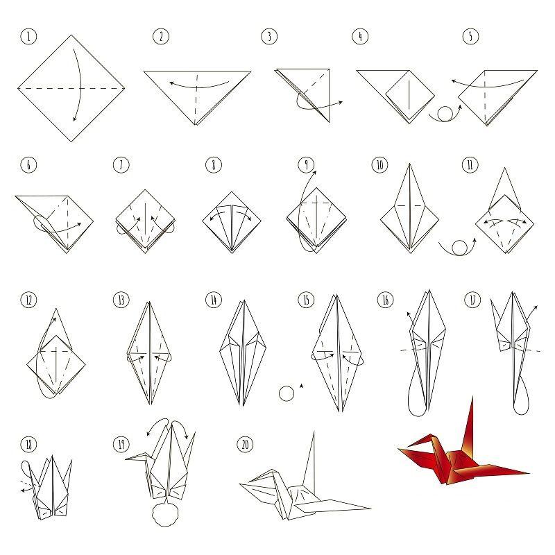 Origami Yapımı Turna