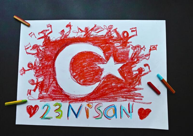 türk bayrağı çizimi