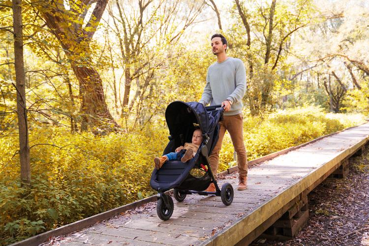 bebek arabası ve baba