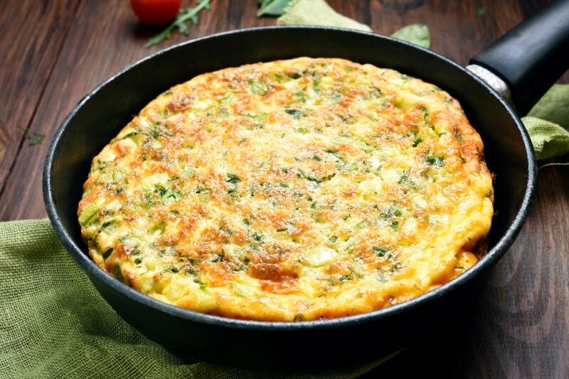 yulaf ezmeli omlet