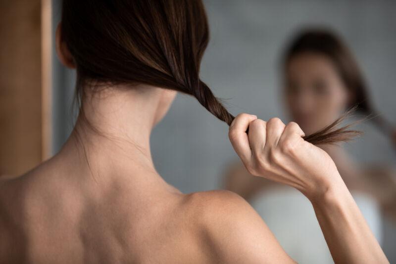 ince saçlı kadın